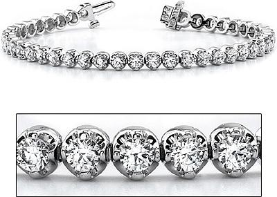 18k White Gold Three G Diamond Tennis Bracelet 460ct Tw B863 1 C Png