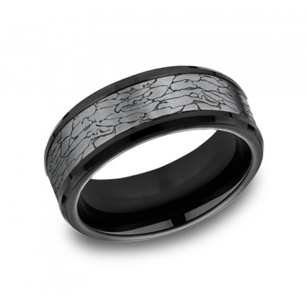 Benchmark - Tantalum and Black Titanium Ring