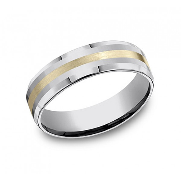 Benchmark - Tungsten and Yellow Gold Ring