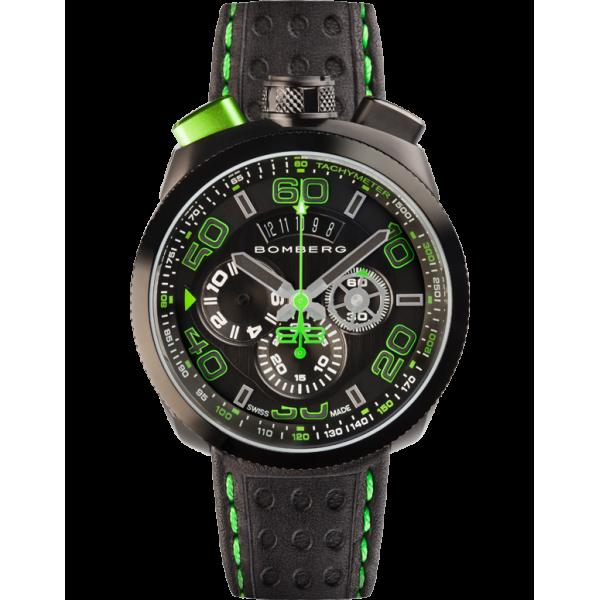 Bomberg - Bolt-68 Black & Green Chronograph