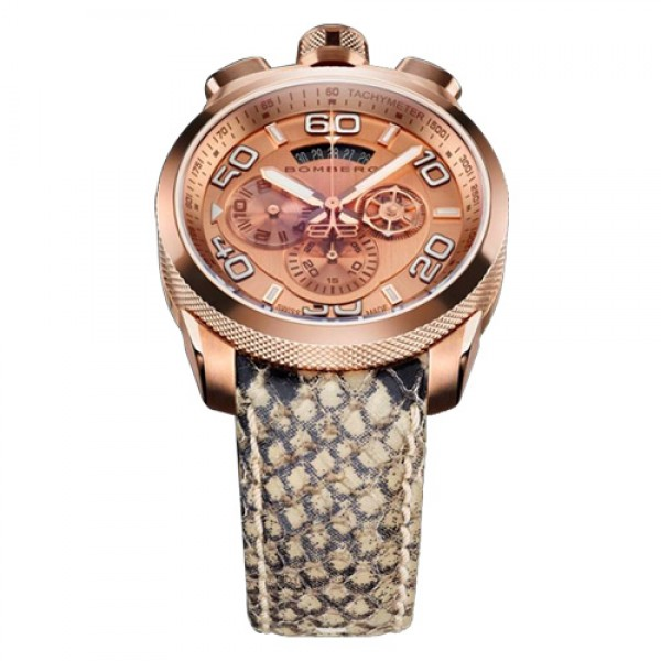 Bomberg - BOLT-68: Stunning Pink Gold (PVD) with White and Black Accents