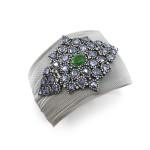 Emerald Sapphire and Diamond Bracelet