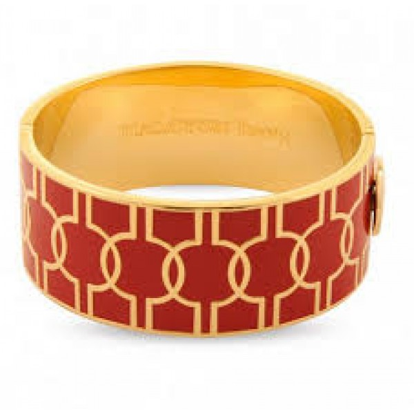 Halcyon Days Geometric Red & Gold