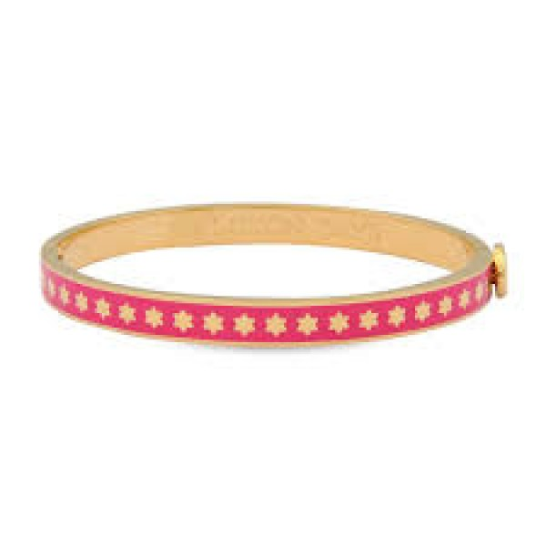 Halcyon Days Skinny Star Hot Pink & Gold