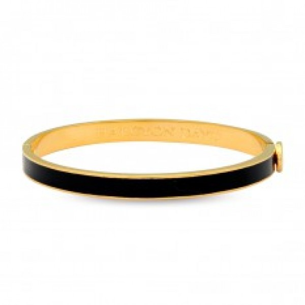Halcyon Days Skinny Plain Black & Gold