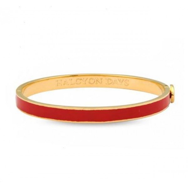 Halcyon Days Plain Red & Gold