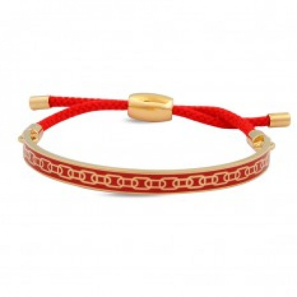 Halcyon Days Friendship Skinny Chain Red & Gold