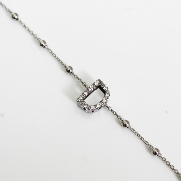 Jaibor initial pendant d bracelet mozeypictures Image collections