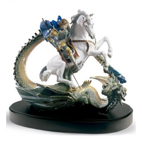 Lladro Saint George and The Dragon - Limited Edition