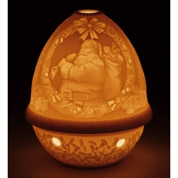 Lladro - Lithophane Votive Light - Santa Claus