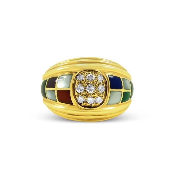 Asch Grossbart Mixed Stone, Diamond Ring