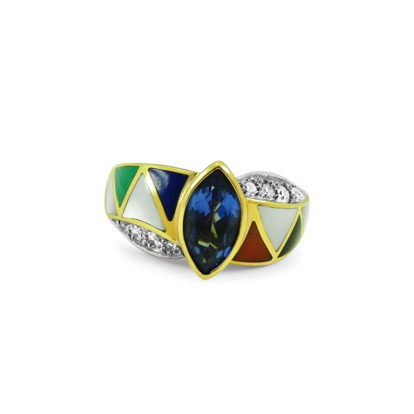 Asch Grossbart Mixed Stone, Tanzanite and Diamond Ring