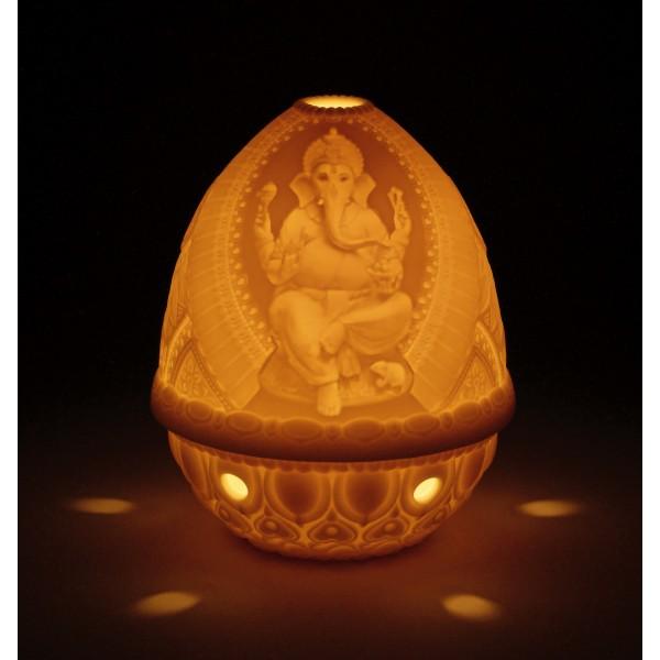 Lithophane Votive Light - Lord Ganesha