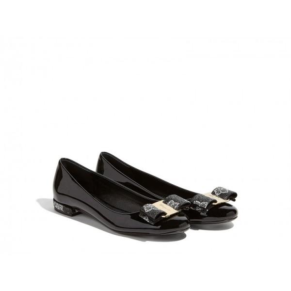 Salvatore Ferragamo - Vara Crystal Ballerina Shoes