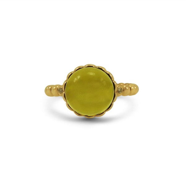 Yellow Topaz 14k Yellow Gold Ring